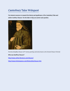 Canterbury Tales Webquest