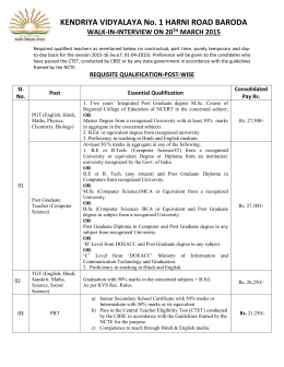 Advertisement for Contractual Appointment(2015-16)