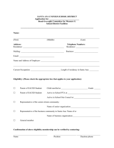 agenda item backup sheet - Santa Ana Unified School District