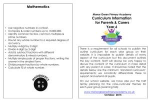 year 6 – curriculum information for parents