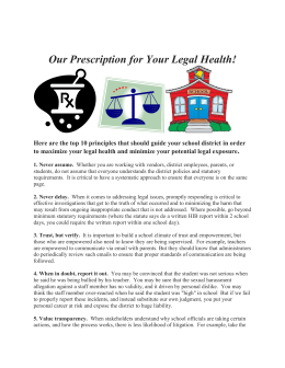 Clinics 31 and 35 Our Prescription for Your Legal Health