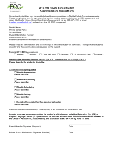 Accommodations Request Form - Polk County School District