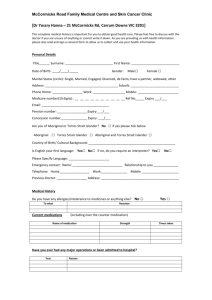 New Patient Registration Form - McCormicks Road Family Medical