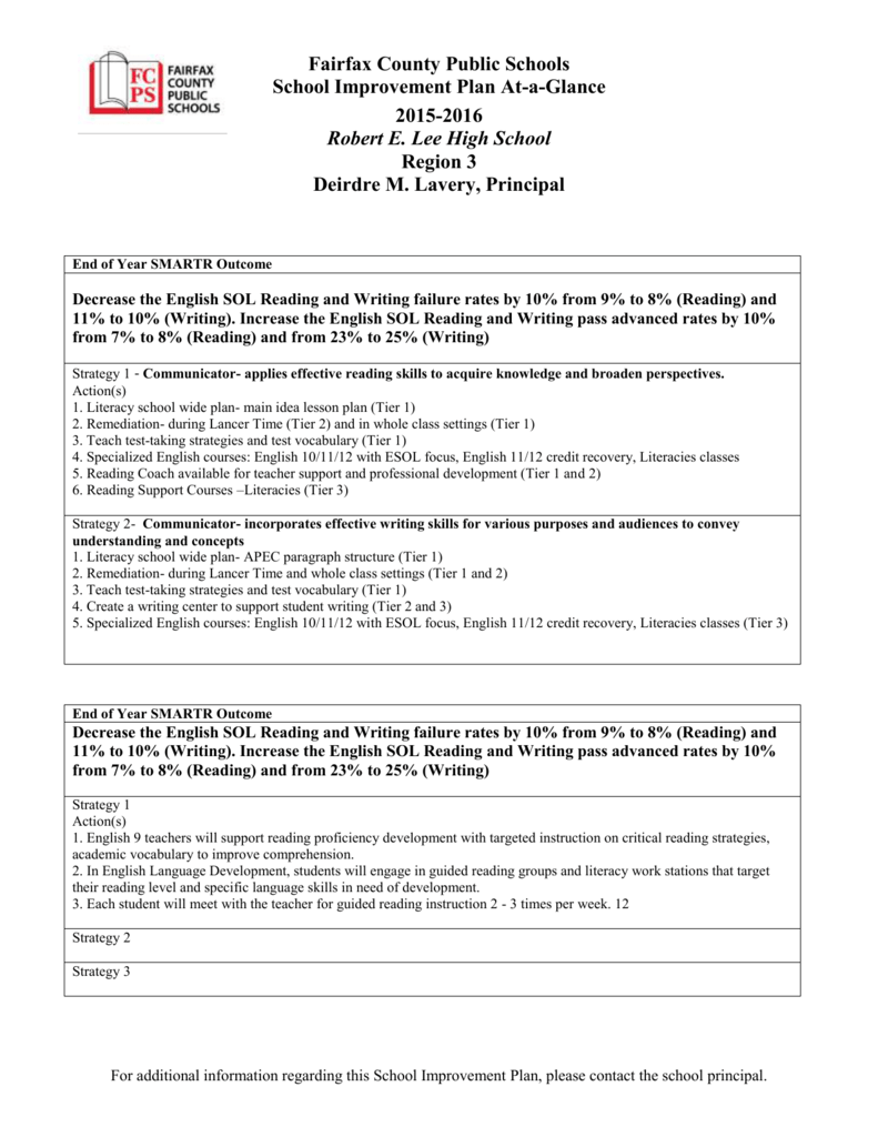 school improvement plan fairfax county public schools rh studylib net Guided Reading Lesson Plan Template chapter 11 guided reading strategies 11.3 central america and the caribbean