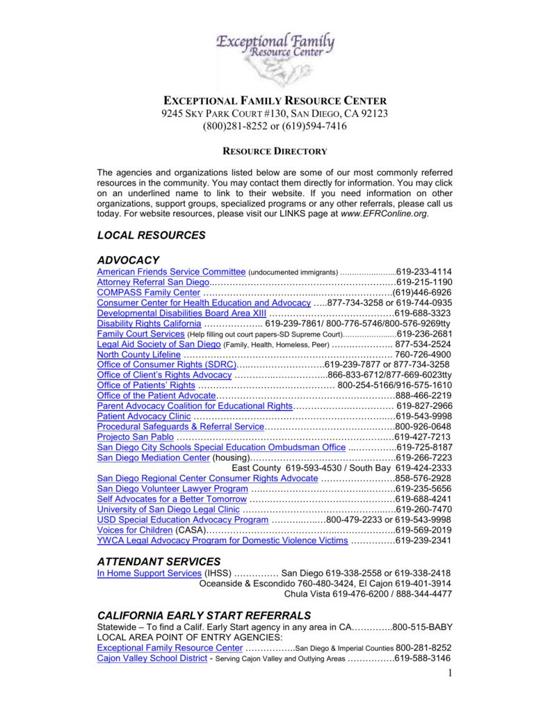 EFRC Resource Directory