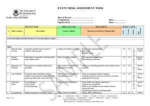 event risk assessment tool