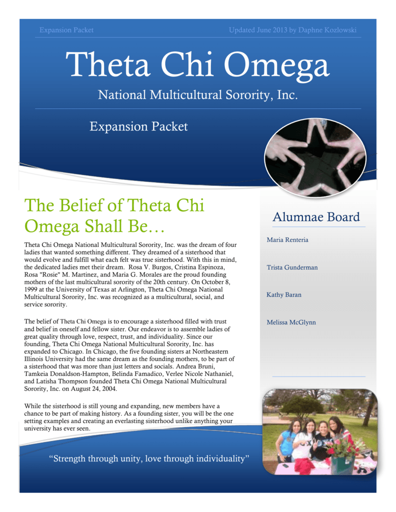 Theta Chi Omega National Multicultural Sorority, Inc