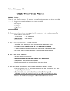 Chapter 1 Study Guide Answers