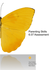 Parenting Skills 6.07 Assessment