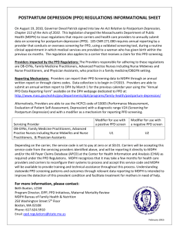 PPD Regulations Informational Sheet