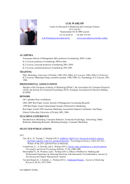 Luk Warlop CV update current - FEB