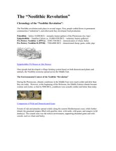 "Chronology of the ""Neolithic Revolution"""