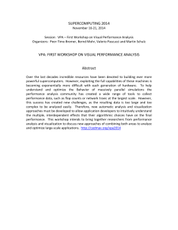 VPA: First Workshop on Visual Performance Analysis