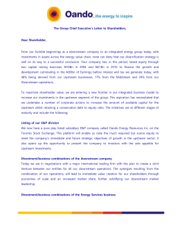 Group Chief Executive`s Letter to Shareholders