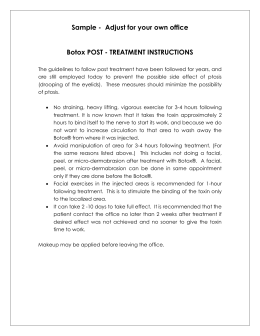 BOTOX® POST - TREATMENT INSTRUCTIONS