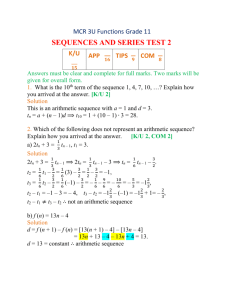 MCR 3U Sequences and Series Test 2