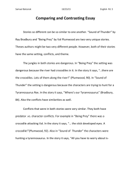 Erika Kohlhoff final copy of the essay a sound of thunder and being