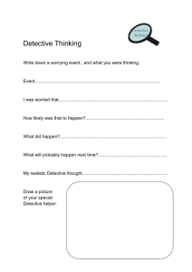 Detective Thinking worksheet