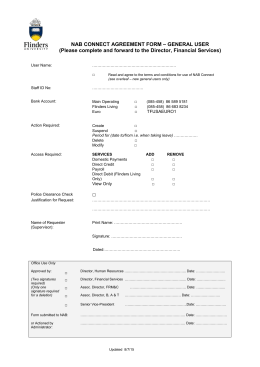 NAB General User Form