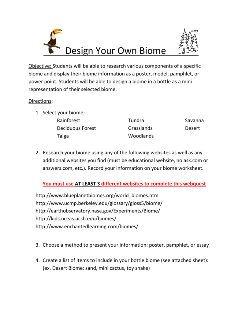 worksheet Biome Webquest Worksheet file biomes webquest