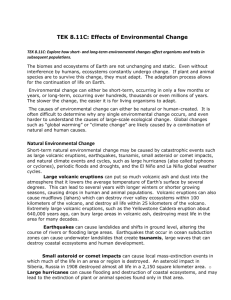 8.11C Effects of Environmental Change Reading