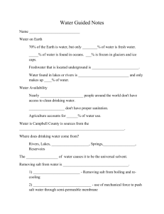 Water Guided Notes Worksheet