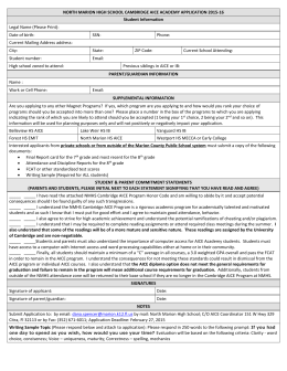 2015-2016 NMHS AICE Application