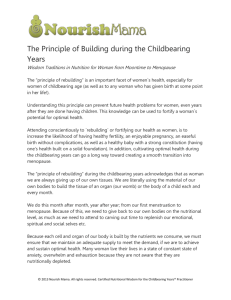 The Principle of Building during the Childbearing Years Wisdom
