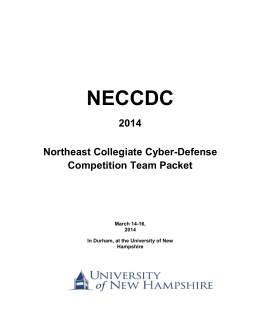 CCDC National Competition Rules