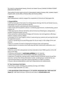 CUADSS Student Associate Job Posting