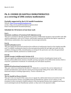 Ph. D. COURSE ON SANTILLI ISOMATHEMATICS as a covering of