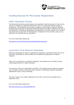 Funding Sources for Mid-Career Researchers