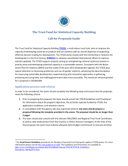 The Trust Fund for Statistical Capacity Building