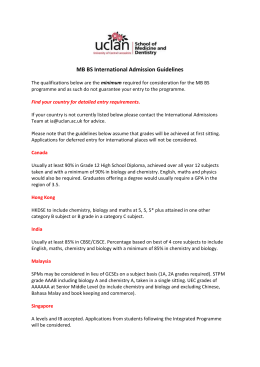 MB BS International Admission Guidelines