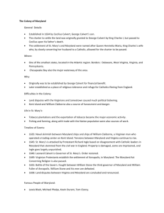 The Colony of Maryland