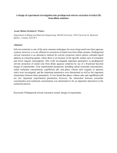 A design of experiments investigation into predispersed solvent