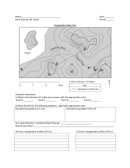 review worksheet on topo maps. Black Bedroom Furniture Sets. Home Design Ideas