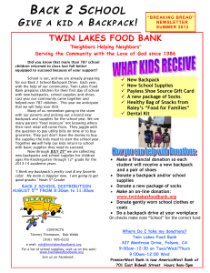 9:00am-12:00 Wed - Twin Lakes Food Bank