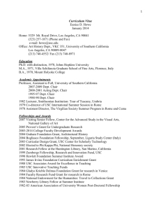 Curriculum Vitae - University of Southern California