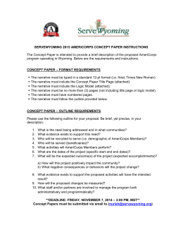ServeWyoming 2015 AmeriCorps Concept Paper Instructions