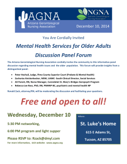 Mental Health Services for Older Adults Discussion Panel Forum
