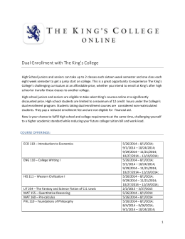 The_King`s_College_DC_Courses