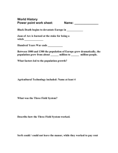 Medieval worksheet