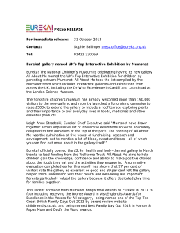 Eureka! gallery named UK`s Top Interactive Exhibition by Mumsnet