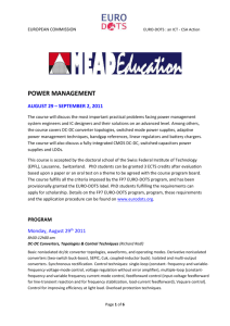 power management - EURO-DOTS