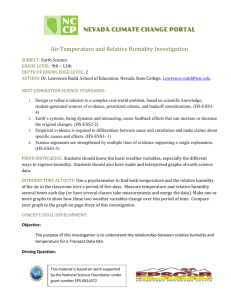 Air Temp and RH Investigation (high school)