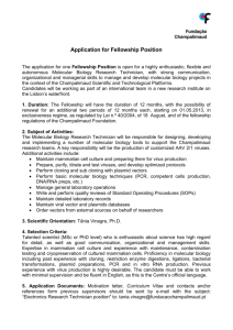 Application for Fellowship Position