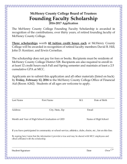2016 2017 mffs application – mcc - Alden