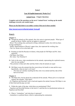Term 2 Week 5 to 7 Year 10 Animal Farm homework