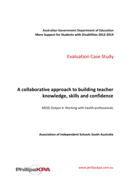 A collaborative approach to building teacher knowledge, skills and